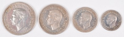 Lot 70 - George VI Maundy Set, 1949, One Pence to Four Pence, silver (4).