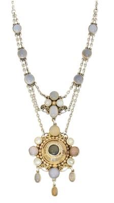 Lot 63 - A vari-gem necklace
