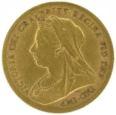Lot 29 - Queen Victoria, Half-Sovereign, 1900, London Mint.