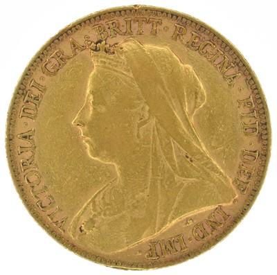 Lot 30 - Queen Victoria, Sovereign, 1899, Perth Mint.