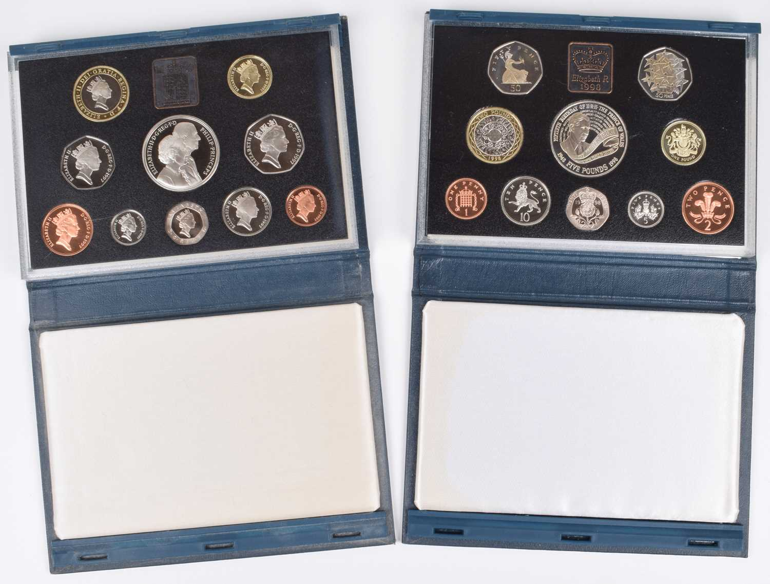 Lot 51 - United Kingdom Royal Mint Annual Proof Coin Collections for 1997 and 1998 (2).