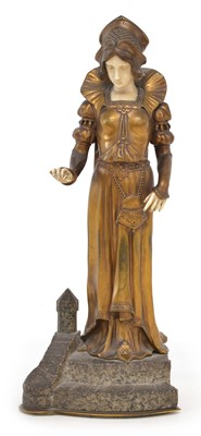 Lot 137 - D.Watrin French bronze and ivory figure