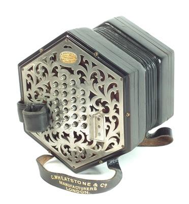 Lot 94 - Wheatstone 48 key concertina