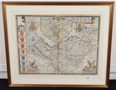 Lot 105 - John Speed, Cheshire, map.