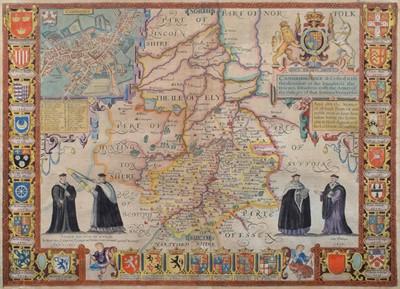 Lot 52 - John Speed, Cambridge, map.