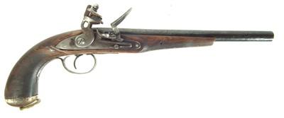 Lot 228 - Composed flintlock pistol