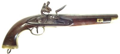 Lot 227 - Belgian flintlock holster pistol