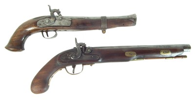 Lot 235 - Two composed percussion pistols