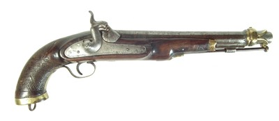 Lot 212 - Indian percussion holster pistol