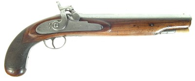 Lot 214 - Percussion holster pistol.