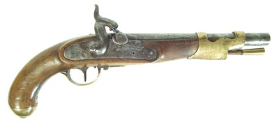 Lot 233 - Composed percussion holster pistol