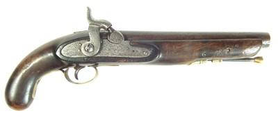 Lot 215 - Percussion belt pistol by Fred Barnes