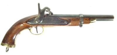 Lot 206 - Belgian percussion holster pistol