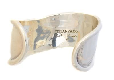 Lot 38 - An Elsa Peretti for Tiffany & Co. silver cuff bangle