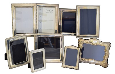 Lot 78 - Nine silver fronted picture frames