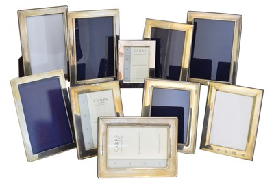 Lot 79 - Ten silver fronted picture frames