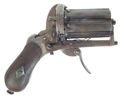 Lot 249 - Pinfire pepperbox revolver