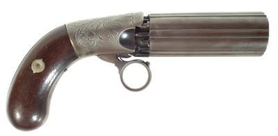 Lot 245 - Percussion pepperbox revolver