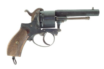 Lot 254 - Belgian 9mm pinfire revolver