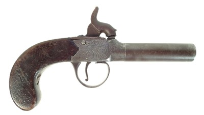 Lot 237 - Percussion boxlock pocket pistol