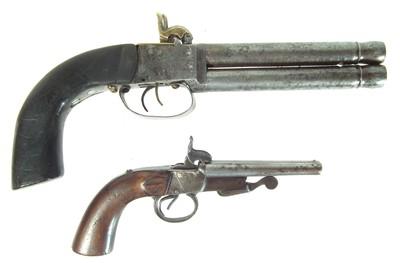 Lot 226 - Two double barrel pistols