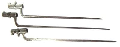 Lot 107 - Three socket bayonets