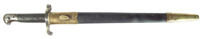 Lot 109 - Martini Henry pattern 1860 yataghan sword bayonet