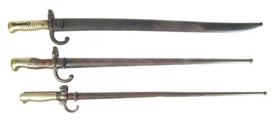 Lot 108 - Three French Bayonets