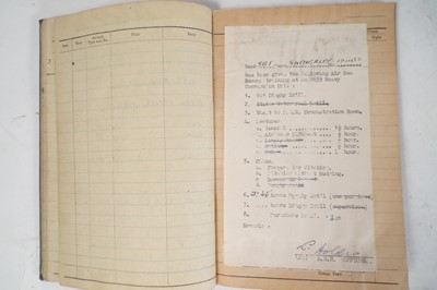 Lot 178 - RAF log book and related items for air gunner F. G. Satherley