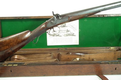 Lot Percussion silver mounted double 14 bore shotgun by Smith
