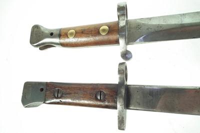 Lot 67 - Two Lee Enfield bayonets