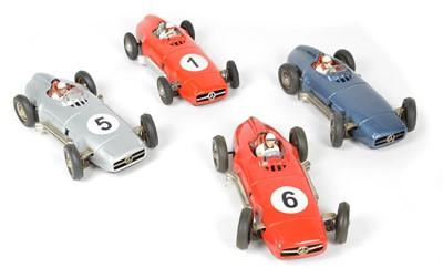 Lot 67 - Four JNF West German Mercedes Tinplate Cars