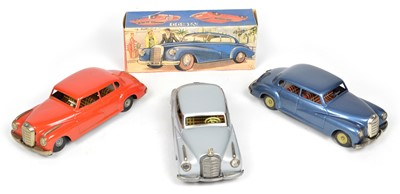 Lot 71 - Three JNF Mercedes Benz 300 tinplate cars made in West Germany