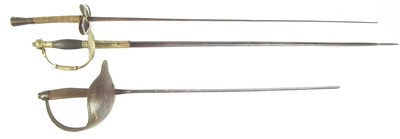 Lot 18 - Victorian court sword and two others.