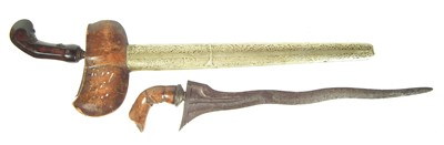 Lot 76 - Indonesian Kris dagger and scabbard and one other