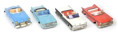 Lot 68 - Four tinplate convertible cars