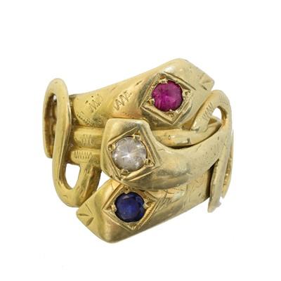 Lot 72 - A gem-set dress ring