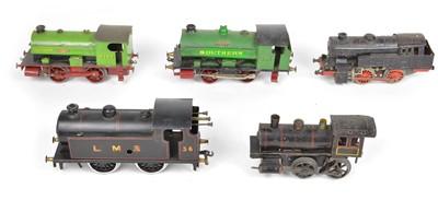 Lot 24 - Five O Gauge Clockwork Locomotives