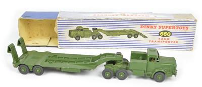 Lot 102 - Dinky Supertoys Tank Transporter 660, boxed.