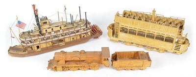 Lot 75 - Three matchstick models