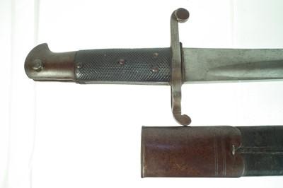 Lot 89 - 1853 pattern artillery sword bayonet and scabbard