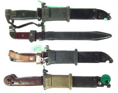 Lot 54 - Four variations of AK-47 / AKM bayonet