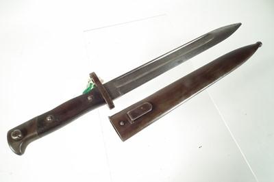 Lot 34 - Irish Mannlicher bayonet and scabbard