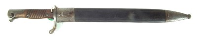 Lot 66 - German S.98/05 saw back bayonet and scabbard
