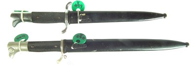 Lot 83 - Two German dress bayonets and scabbards