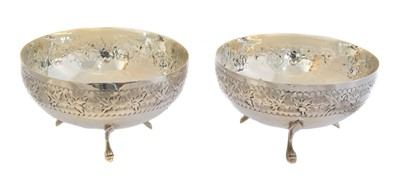 Lot 151 - A pair of continental silver bonbon dishes