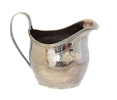 Lot 153 - A George III silver milk jug
