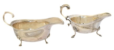 Lot 154 - Two silver sauce boats