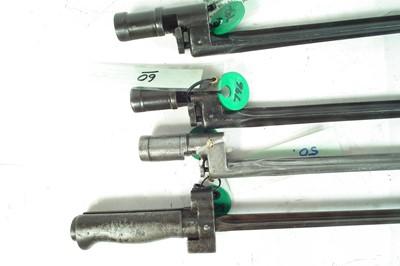 Lot 80 - Four cruciform bayonets