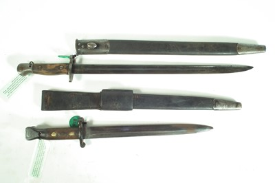 Lot 65 - Two British bayonets and scabbards